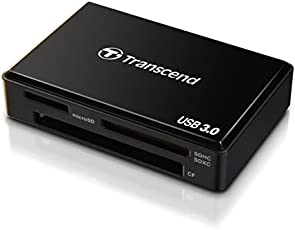 Transcend USB 3.0 Super Speed Multi-Card Reader for SD/SDHC/SDXC/MS/CF Cards (TS-RDF8K)