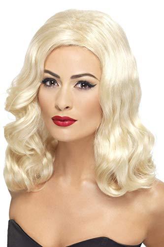 Smiffys, Damen 20er Jahre Perücke, Wellig, One Size, Blond, 42461 (Halloween-kostüm-ideen Blonde Frauen Für)