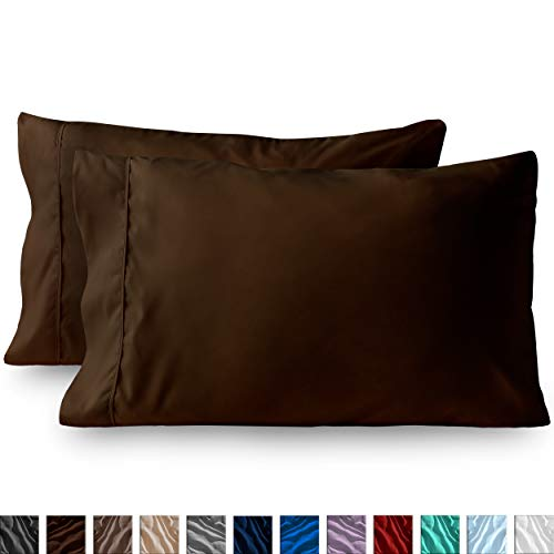 Bare Home Premium ultrasoftes Mikrofaser Spannbetttuch Set Modern Standard Pillowcase Set of 2 Cocoa -
