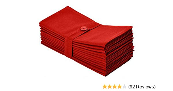 12 Pack Oversized Dinner Napkins 20x20 White Cotton Craft Napkins 100/%