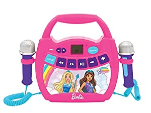 LEXIBOOK T Barbie-Mi Primer Reproductor Digital Bluetooth con 2 micrófonos, inalámbrico, función Grabar, Puerto USB, AUX-IN, SD/TF, a Partir de 3 años, Rosa MP300BBZ, Color
