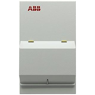 ABB 1SKB106142C6001 Housemaster Steel Consumer Unit, 4 Way, 80 A/30 mA RCD Incomer, 256 mm H x 155 mm W x 110 mm D
