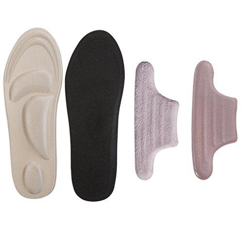 MagiDeal 4D Orthèsede Orthopédique Chaussure Semelles intérieures pour pieds + Doublure De Talon En Silicone