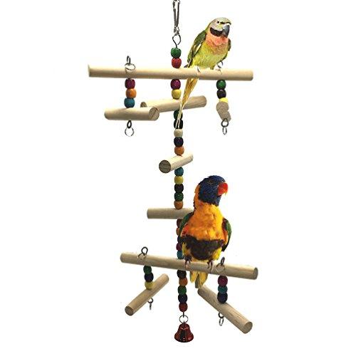 Madera escaleras juguete para pájaros loro periquito periquito cacatúas Conure amor pájaros...