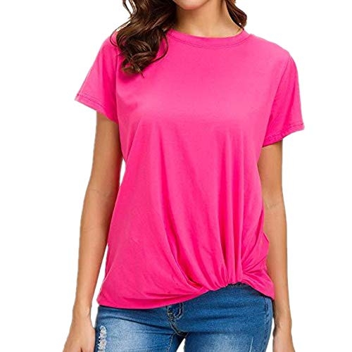 Womens Fitted Unterhemd (Yubaoer Frauen-Strickjacke-Jacken-Mantel-gestrickte Lange Hülsen-klobige Bunte lose Taschen-mit Kapuze Art- und Weisestrickjacke-übergroße Oberseite Schulter festen Bügeln Unterhemd-Rosa 3XL)
