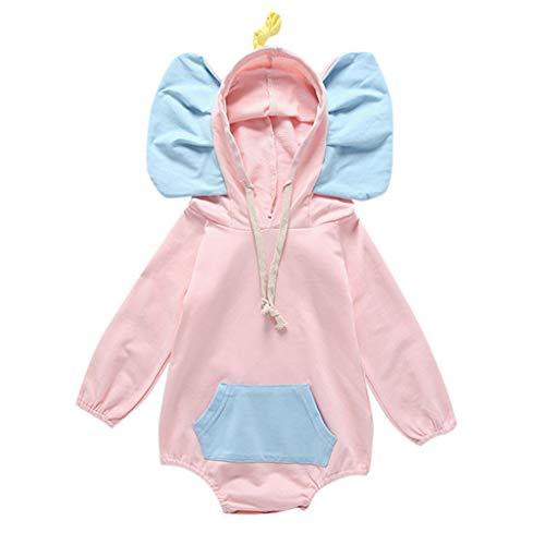 Engel Geburt Kostüm - DIASTR Strampler/Overall mit Kapuze für Mädchen und Jungen Gedruckt 3D Body Strampler Kostüm Kleidung Spielanzug Neugeborenen Kleidung
