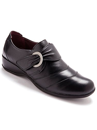 Pediconfort - Derbies bicolore en cuir - Noir - 38
