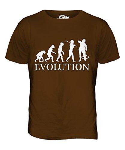 CandyMix Armburst Armbrustschützen Evolution Des Menschen Herren T Shirt Braun