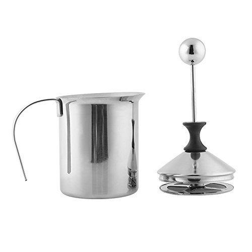 Stoga Milchschäumer 400ML Edelstahl Milchschäumer Doppelschaum Pump Mesh Kaffee Milch Schaumstoff