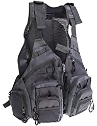 MagiDeal Veste de Pêche Gilet de Survie Tactique Vêtement équipement pour Natation Navigation Sport Camping