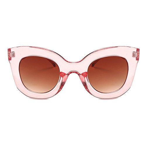 NINGSANJIN Sonnenbrille Damenmode Vintage Cateye Frame Shades Acetat UV Brillen Sonnenbrillen D