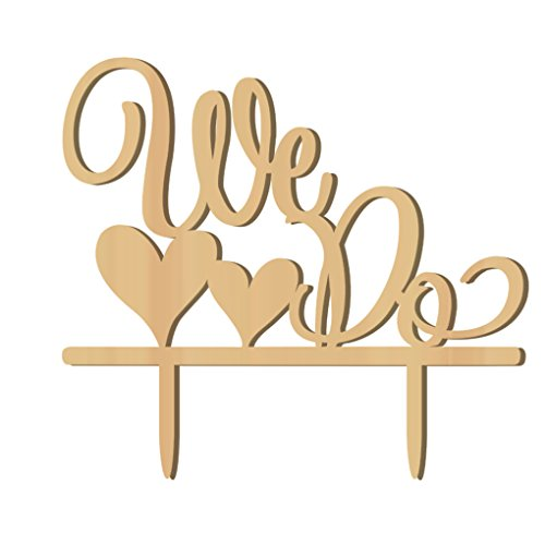 Deinbe Romantisches Holz WE DO-Kuchen-Deckel Holz Hochzeitstorte Stand Dekoration (Stand Hochzeitstorte)