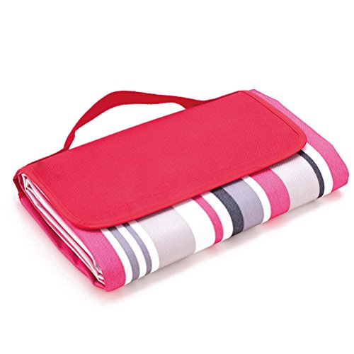 Leorx impermeabile Outdoor Beach camping picnic Mat (Red Stripe)