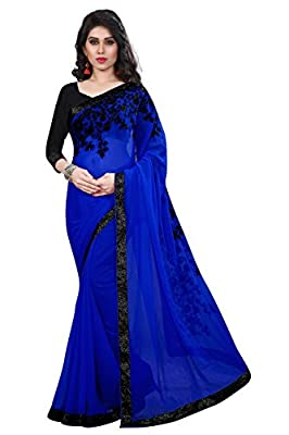 Mishty Fashion Georgette Saree With Blouse Piece