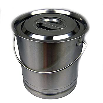 Edelstahleimer 10 Liter Eimer aus Edelstahl: Amazon.de