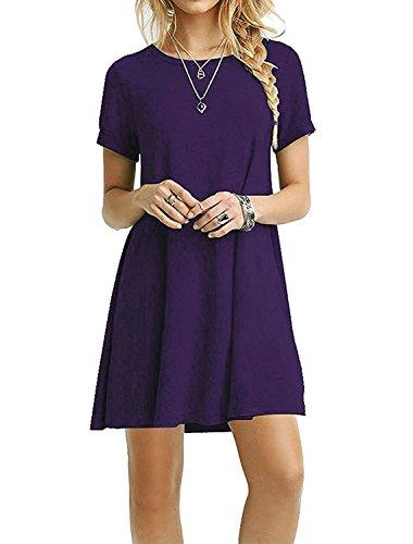 Zero City Damen A-Linie Kleid Violett
