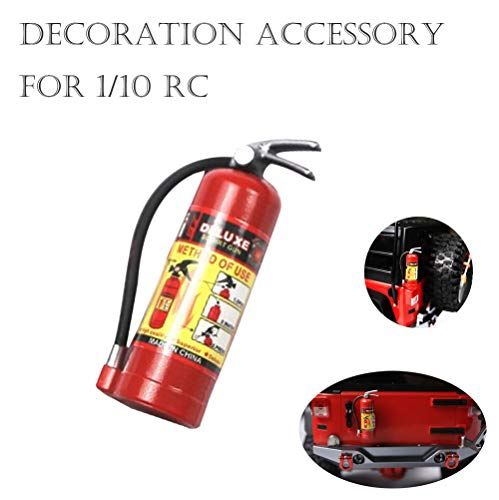 MMLC 1/10 RC Crawler Zubehör Teile Feuerlöscher Modell für Axial SCX10 TRX4 RC Car Accessories (rot)