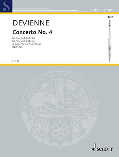 Concerto No. 4 G-Dur: Flöte und Orchester. Klavierauszug mit Solostimme. (Edition Schott) (Flöte Concerto)