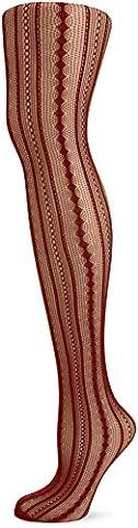 Leg Avenue 9649 - Vintage Netzstrumpfhose, Einheitsgröße, ziegelrot (Erwachsen Netzstrumpfhose)