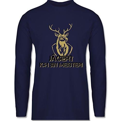 Shirtracer Après Ski - Jäger? Ich Bin Meister! - Herren Langarmshirt Navy Blau