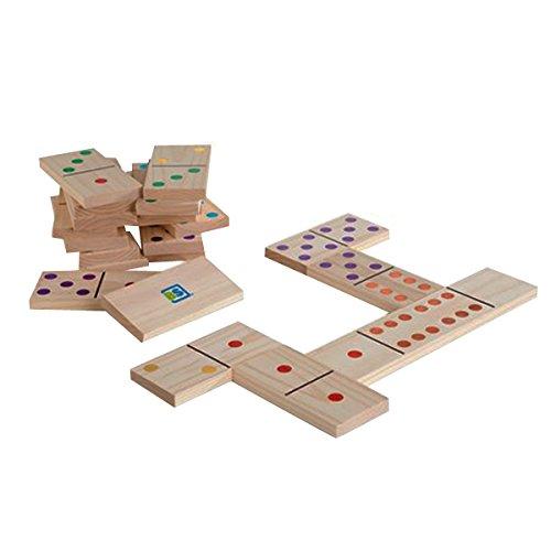 buitenspeel-domino-gioco-in-legno-con-pietre-colorate-28-e-marcatura-multi-colore