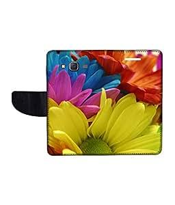 KolorEdge Printed Flip Cover For Samsung Galaxy On7 Multicolor - (1479-55KeMLogo10406SamOn7)