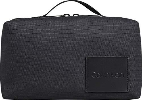 Calvin Klein Herren Split Washbag Geldbörse, Schwarz (Black) 1x1x1 cm (Kosmetiktasche Calvin Klein)