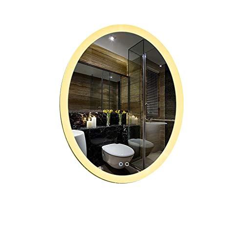 Badezimmerspiegel Beleuchtung LED, Wandmontage Touch-Schalter Anti-Fog Dimmbar (Size : 60x80cm) (Vollständige Digitale Abbildung)