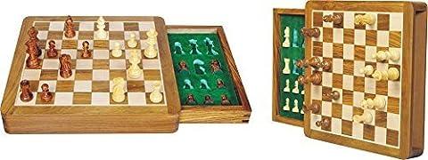 Zap Impex ® Holz magnetischen Reisespiel Schach, Box und Fach 7 Zoll