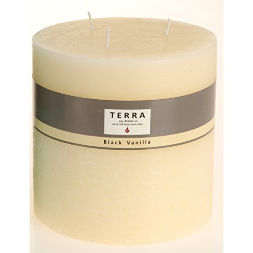XXL Jumbo Duftkerze Black Vanilla Votivkerzen Kerzenlicht 3 Dochten 14,8x15cm