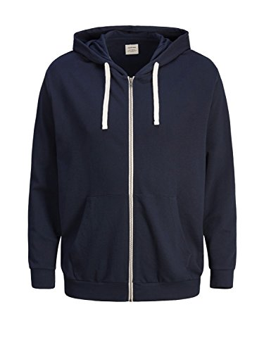 JACK & JONES Herren Sweatjacke Jjeholmen Sweat Zip Hood Noos Blau (Navy Blazer Detail: Ps) 4XL
