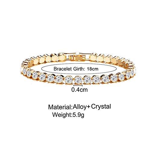 Imagen de opalqkn pulseras de tenis de moda para mujeres niñas micro crystal braslet best friend charm braclet alternativa