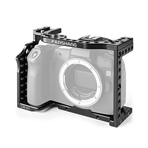 Docooler Camera Cage Movie Video Aluminiumlegierungs Filmstabilisator für Canon EOS R-Vollformat-Kamera ILDC mit kaltem Schuhhalter für Magic Arm Mikrofon Videomonitor