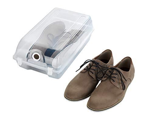 Wenko 50933100 Boîte à Chaussures L, Polypropylène, 21 x 13 x 36 cm, Transparent