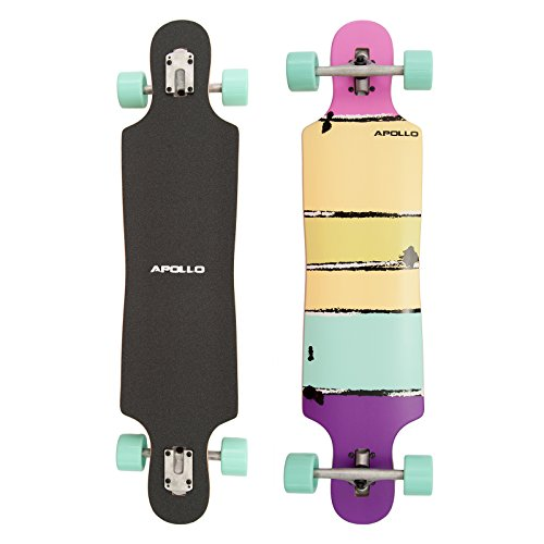 Apollo Longboards Special Edition Komplettboard inkl. T-Tool, mit High Speed ABEC Kugellagern, Drop Through Freeride Skaten Cruiser Boards