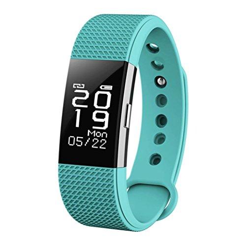 Magiyard Reloj de banda inteligente Bluetooth 4.0 OLED F2 HR Deportes Monitoreo...