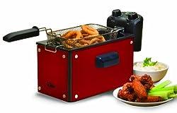 MaxiMatic EDF-3500G Elite Platinum 3-1/2-Quart Deep Fryer, Red