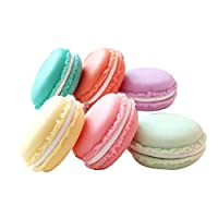 Gespout 6 Pcs Ring Box Mini Lovely Macaron Necklace Earrings Ring Case Portable Multifunctional Pill Jewelry Gift Small Storage Box (Random Color)