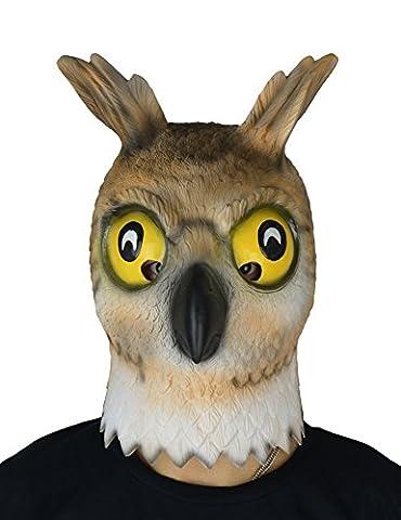 larpgears fantaisie Halloween Costume Party Animal en caoutchouc masque Chouette Latex Masque Taille adulte