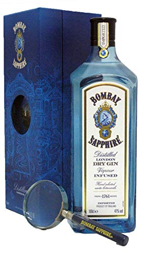 Gin Bombay Sapphire Laverstoke Mill with magnifying glass 1L