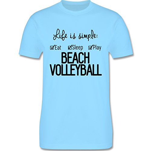 Volleyball - Life is simple Beachvolleyball - Herren Premium T-Shirt Hellblau