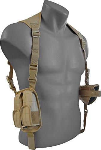 Schulterholster Pistolenholster mit CORDURA®, verstellbar mit Magazintasche Coyote