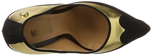 Love Moschino W.Shoe, Scarpe con Tacco Donna Multicolore (Gold/black)
