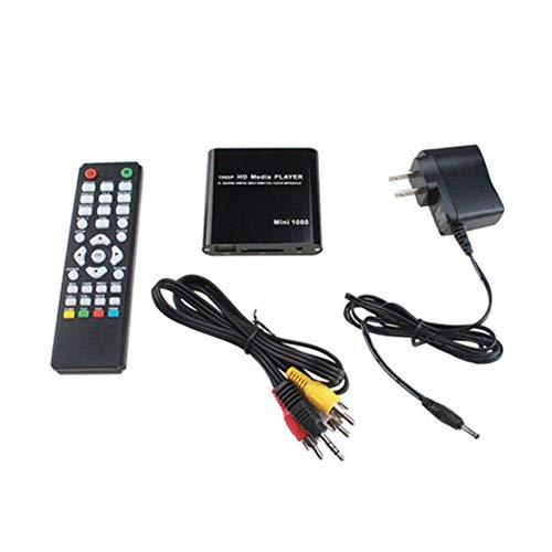 LouiseEvel215 Mini HD 1080p SD Reproductor Multimedia USB para películas HDMI/AV/MMC MKV AVI Blue Ray