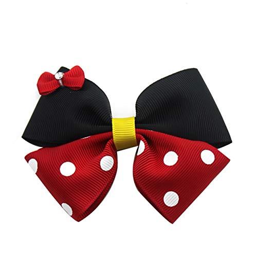 2 lazos pelo Minnie Mouse lunares rojos pelo, diademas