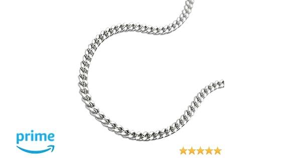 e73f0d3c2c5b Unbespielt Kette Halskette Silberkette 925 Silber Damen Panzerkette 2 x  diamantiert für Frauen Länge 42 cm x 1.7 mm Anhängerkette Silber   Amazon.de  Schmuck