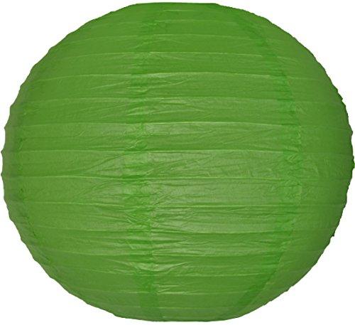 Takoy 10 Stück Papier Laterne 20cm grün Party Lampion rund Lampenschirm