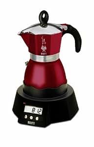 bialetti 1232c easy timer cafeti re italienne electrique pour 3 tasses bordeaux. Black Bedroom Furniture Sets. Home Design Ideas