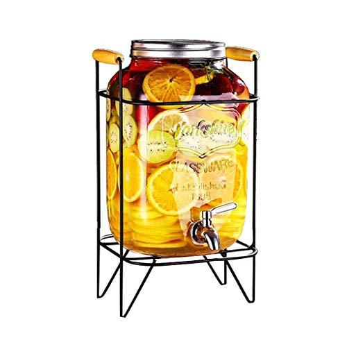 Saftglas, Dose Mit Transparentem Glas - Haushaltsfass-GeträNkeautomat - SaftbehäLter Mit Wasserhahn Und Halter
