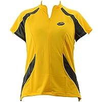 BRIKO camiseta de bicicleta mujer maxi dry FLOW amarillo negro 010400 - YA #